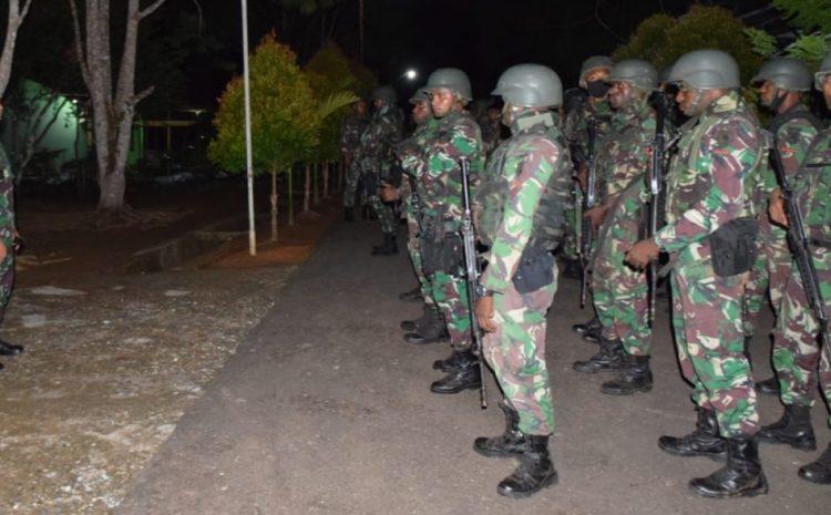 Antisipasi Perkembangan Situasi Jelang Pilkada,Korem 174 Merauke Kirim 117 Personel KeTanah Merah