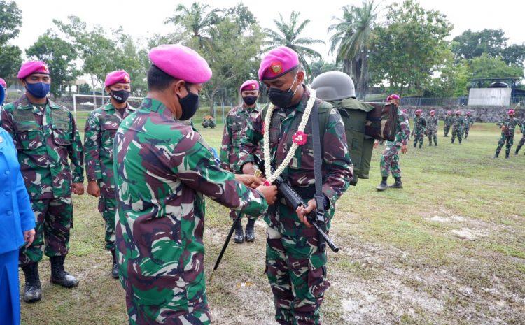 Upacara Penutupan Satgas Marinir PAM Puter XXIII Wilbar Batalyon Infanteri 8 Marinir