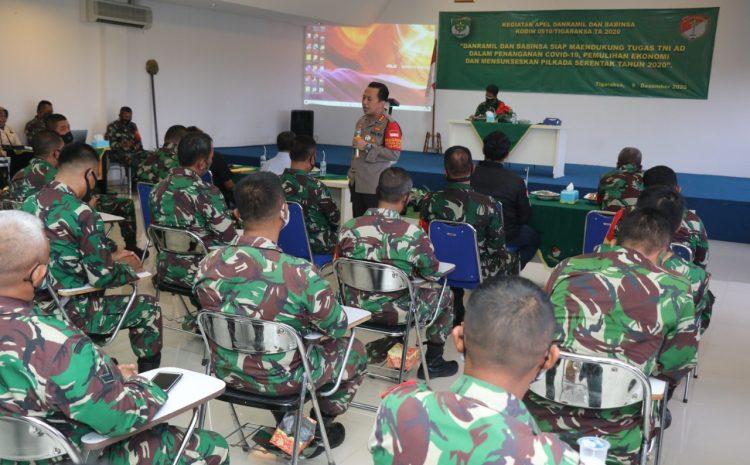 Jadi Narsum Apel Danramil Dan Babinsa, Kapolresta Tangerang Sampaikan Pentingnya Sinergisitas Penanggulangan Covid-19