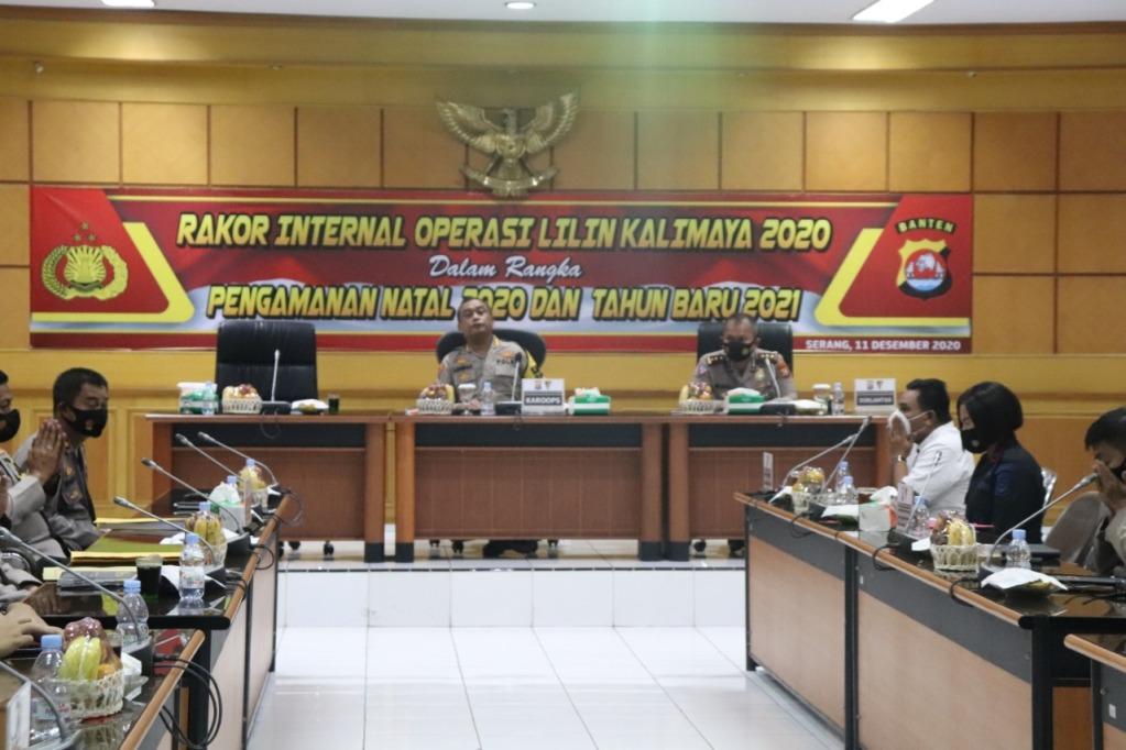 Polda Banten Gelar Rakor Internal Operasi Lilin Kalimaya 2020