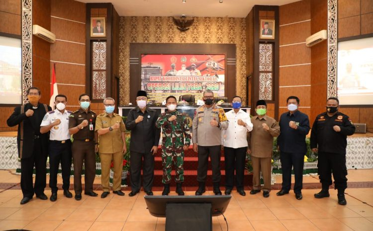 Kapolda Sumut Pimpin Rapat Lintas Sektoral Ops Lilin Toba 2021