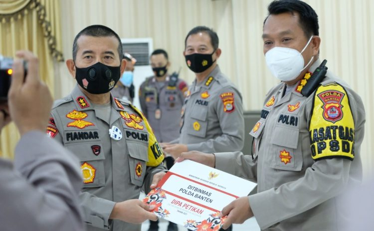 Serahkan DIPA T.A 2021 Ke Masing-Masing Satker, Kapolda Banten Minta Gunakan Anggaran Sesuai Peruntukannya