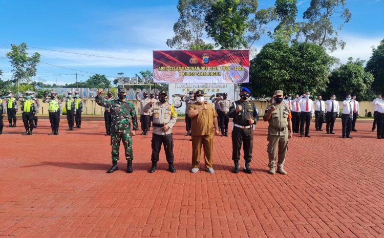 Kapolres Simalungun Pimpin Apel Gelar Pasukan OPS Lilin Toba 2020, Sampaikan 7 Poin Pelaksanaan Tugas