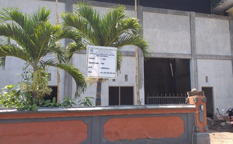 Pembangunan Gedung Serbaguna Banyubiru Diduga Tidak Sesuai RAB