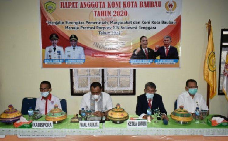 Wawali Baubau Tekankan KONI Mengurus Persoalan Olahraga Secara Serius