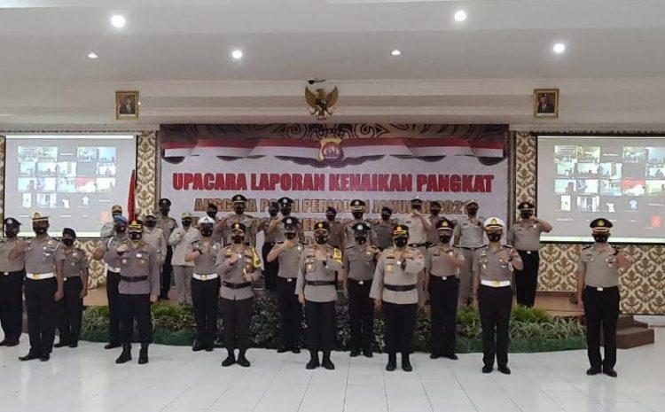 1.001 Personil Polda Banten Dan ASN Polri, Mendapatkan Kenaikan Pangkat, Upacara Digelar Secara Virtual