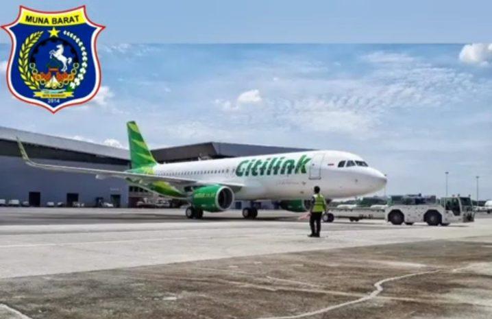 Besok, Citilink Terbang Perdana Di Bandara Sugimanuru Muna Barat
