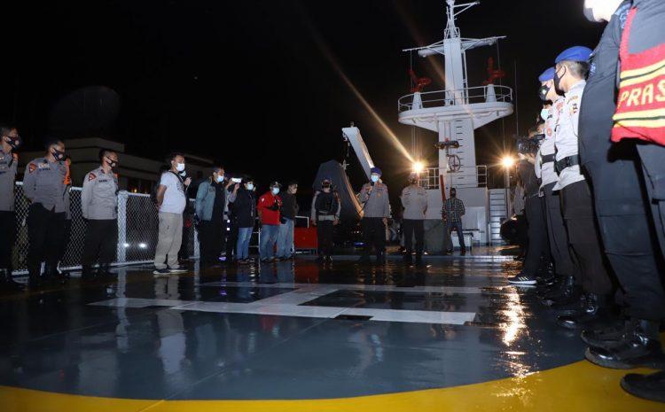 Korpolairud Baharkam Polri Kerahkan 9 Kapal dan 4 Heli Cari Pesawat Sriwijaya Air