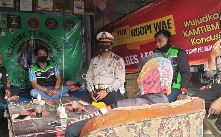 "Sat Lantas Polres Lebak Adakan ""Yuk Ngopi Wae"" Bersama Komunitas Ojeg Online"