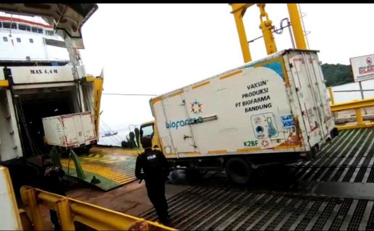 Ditlantas Polda Banten Kawal Pengiriman Vaksin Covid-19 Ke Pulau Sumatera