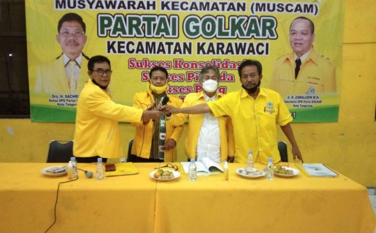 Hasil Muscam Partai Golkar Hosbeni Gonzala Terpilih Sebagai Kapten Kecamatan Karawaci