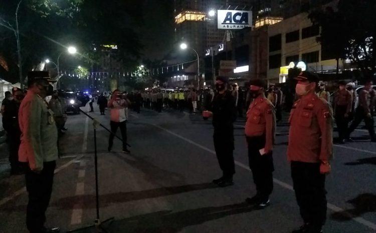 Kapolrestabes Medan Pimpin Patroli Penerapan PPKM di Kota Medan
