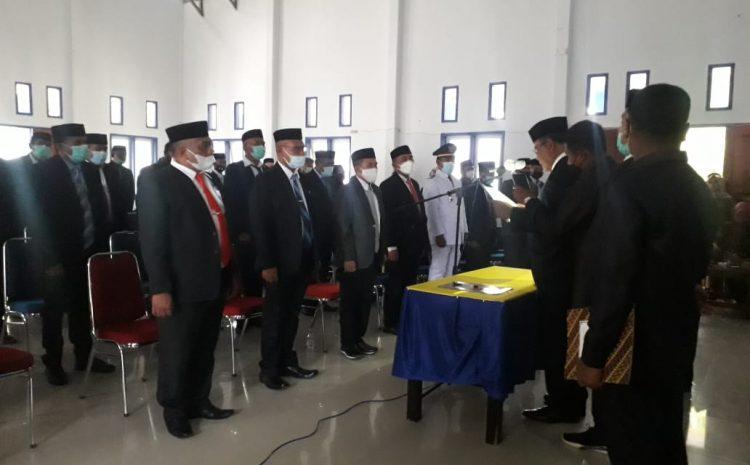 Bupati Achmad Lamani Lantik 72 Pejabat Lingkup Pemkab Mubar