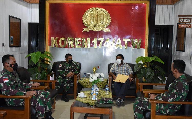 Danrem 174 Merauke Brigjen TNI Bangun Nawoko Terima Kunjungan Bupati Mappi