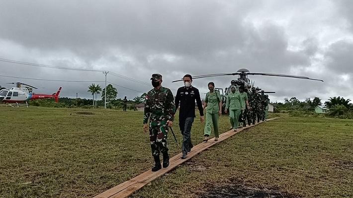 Pangdam XVII/Cenderawasih Kunjungan Kerja KeDistrik Kawagit