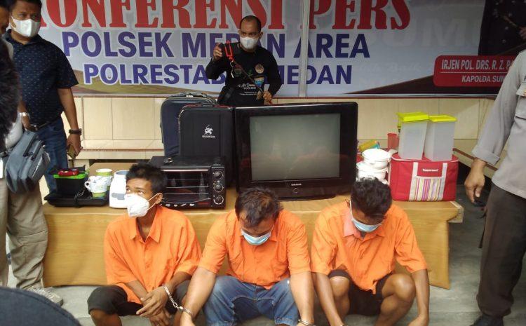 3 Orang Komplotan Maling Diciduk Polsek Medan Area