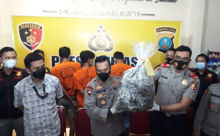 Reskrim Polsek Patumbak Berhasil Meringkus 3 Sindikat Pengedar Narkoba Jenis Ganja 40 Kg