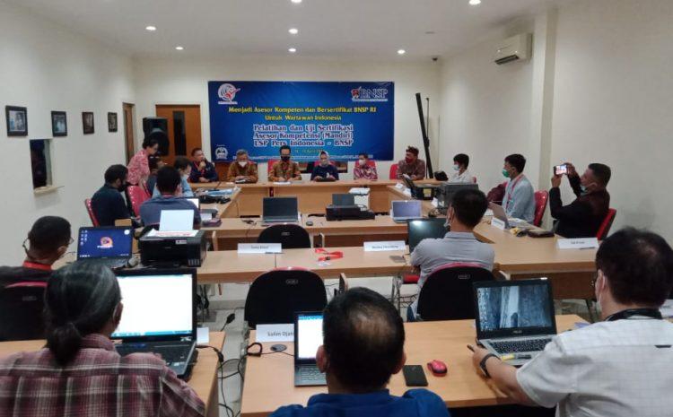 Ketum Organisasi Pers SWI Mengikuti Uji Kompetensi di BNSP-RI