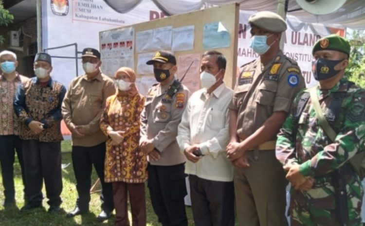Sekda Prov Dan PJ Bupati Labuhanbatu Tinjau TPS PSU Kelurahan Bakaranbatu