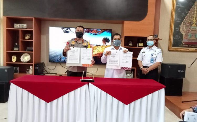 Polda Banten Teken MoU Diseminasi Informasi Dengan BBMKG Wilayah II
