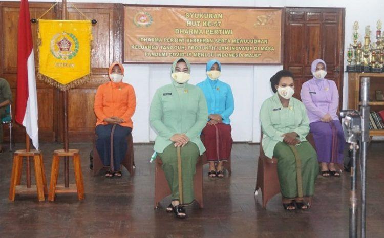 Ketua Dharma Pertiwi Koorcab Merauke Daerah Hadiri Vicon BersamaNy. Nanny Hadi TjahjantoPada Acara HUTKe-57Dharma Pertiwi