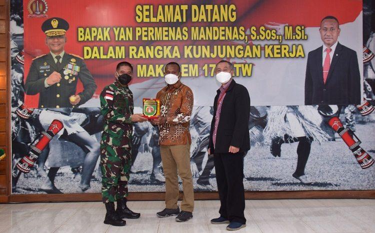 Danrem 174 MeraukeTerima KunjunganAnggotaDPR RI KomisiIBidang Pertahanan