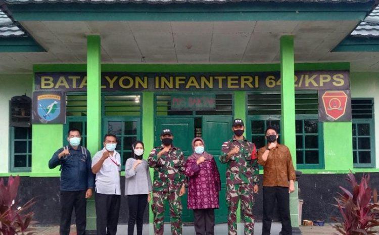 Satgas Pamtas RI-Malaysia Yonif 642/Kps Terima Kunjungan Tim Dari BNPP