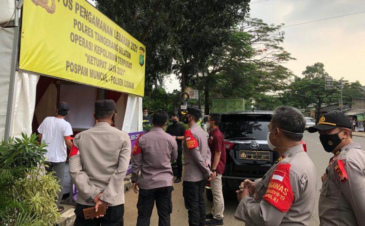 Wakapolres Tangsel Kunjungi Polsek Cisauk Dalam Rangka Persiapan OPS Ketupat Jaya 2021