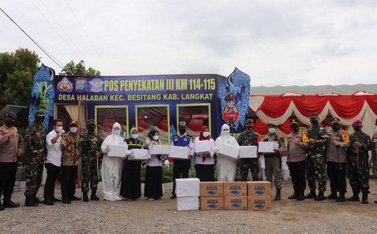 Kapolda Sumut dan Pangdam I/BB Cek Pos Pam Penyekatan III Jalinsum Aceh – Medan