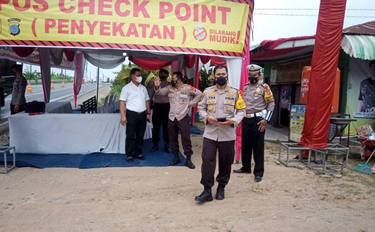 Pamatwil Polda Sumut Lakukan Pengecekan Pos Penyekatan di Wilayah Batubara