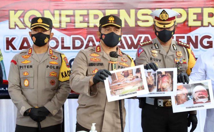 Polda Jateng Gelar Kasus Ledakan Petasan YangTewaskan 4 Orang di Kebumen