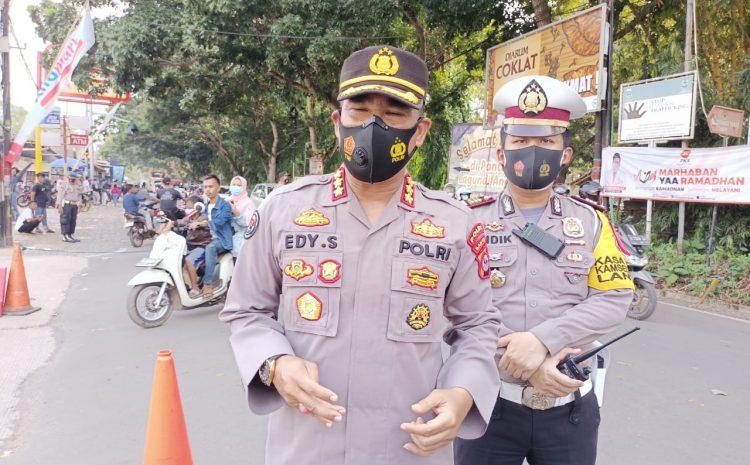 Polda Banten Lakukan Penyekatan, Cegah Masyarakat Berwisata