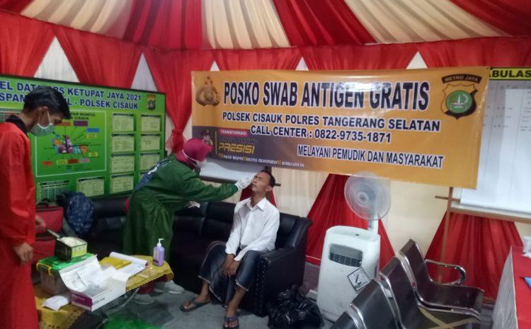 Polsek Cisauk Polres Tangerang Selatan Mengadakan Swab Antigen Gratis