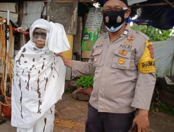 """Polsek Cisauk Bersama Tiga Pilar Sosialisasikan """"Pocong, Bahaya Dampak Covid-19 Kepada Pemudik"""