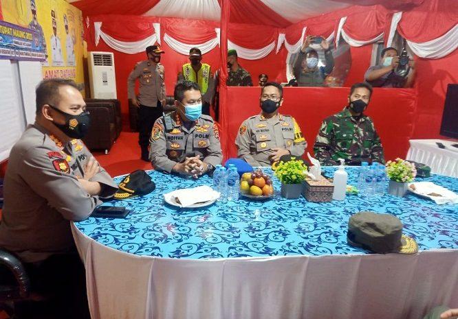 Pamatwil Polres Lebak, Melakukan Pengawasan Pos Ops Ketupat Maung 2021