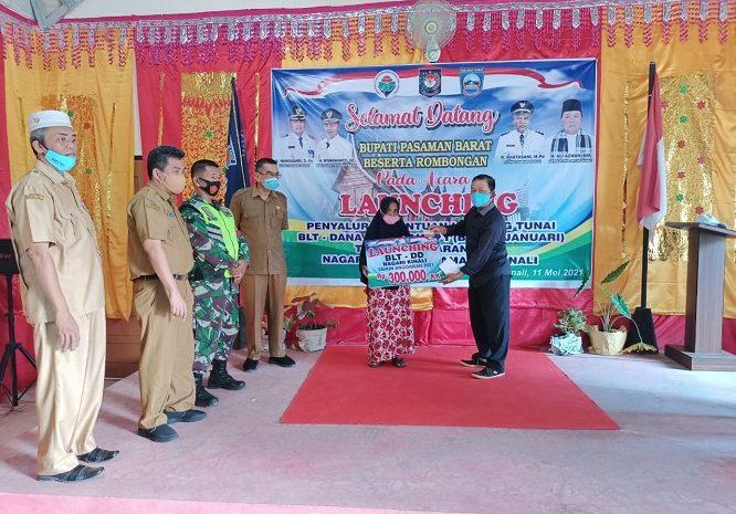 Dua Hari Jelang Hari Raya Idul Fitri, 543 Kepala Keluarga Peroleh Bantuan BLT Di Nagari Kinali Pasaman Barat