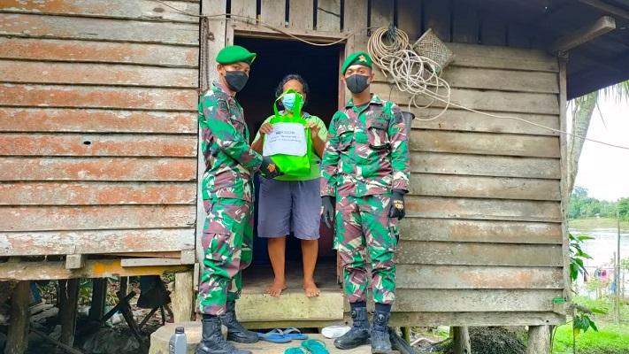 Kompi Senapan C Batalyon Infanteri 642/Kapuas Laksanakan Bakti Sosial