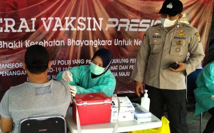 Bhakti Kesehatan Bhayangkara Untuk Negeri, Gerai Vaksin Presisi Polres Kepulauan Seribu Terus Gelar Suntik Vaksin