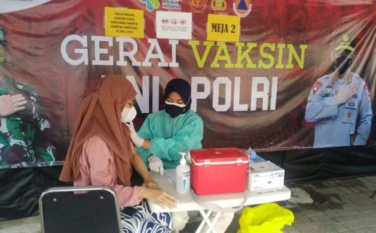 Hari ini, 19 Warga Jalani Suntik Vaksin di Gerai Vaksin Presisi Polres Kepulauan Seribu