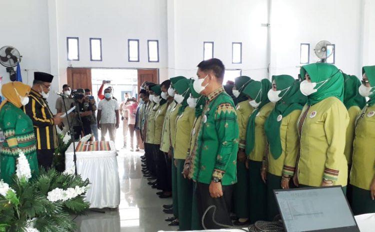 Pelantikan Pengurus Baru, Achmad Lamani Dukung Penuh Program Dekranasda Mubar