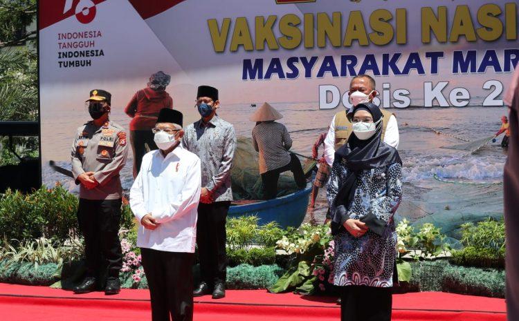 Wakapolda Banten Dampingi Wapres Tinjau Pemberian Vaksinasi Dosis ke Dua