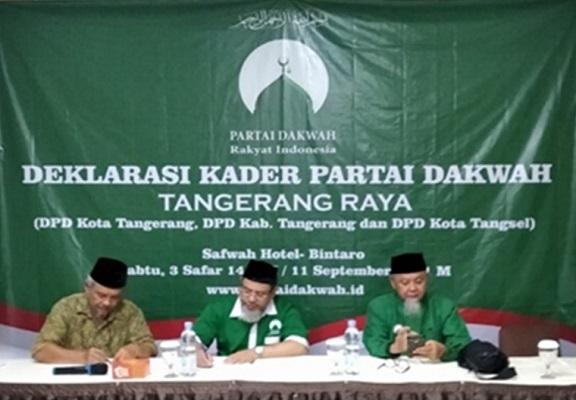 Deklarasi DPD se-Tangerang Raya Partai Dakwah Rakyat Indonesia