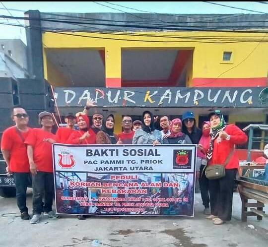 Bakti Sosial PAMMI Tanjung Priok Jakarta Utara Buat Korban Kebakaran