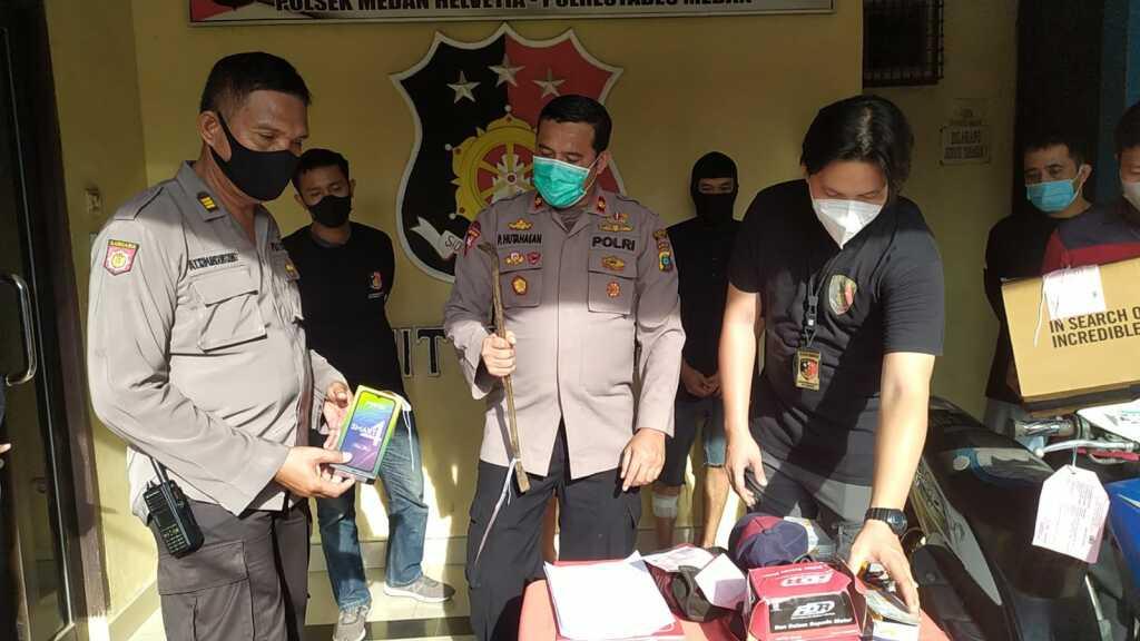 Dor ! Melawan Polisi, Residivis Pelaku Curat Di Bengkel Master Ban Medan Di Tembak Tekab