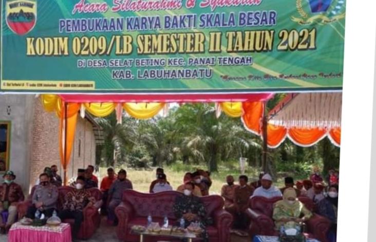 Sekdakab Labuhanbatu Menghadiri Kegiatan Karya Bhakti TNI Kodim 0209/LB